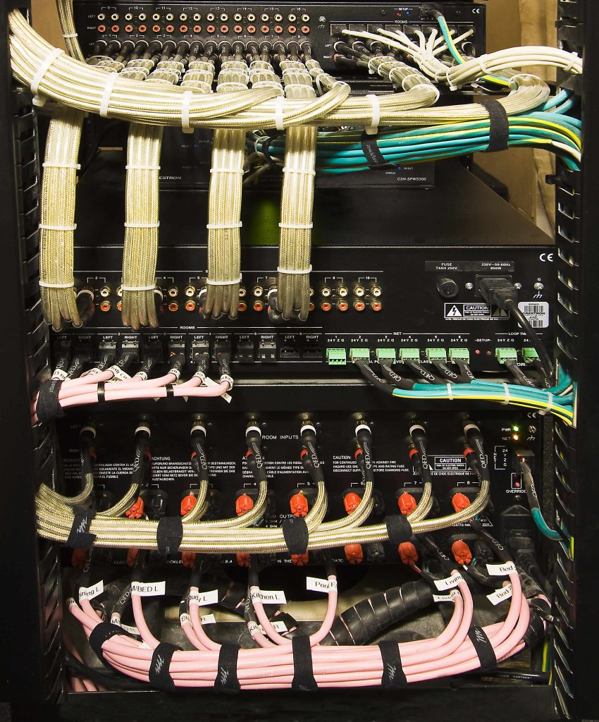 Smart Home Installation, shows our award winning equipment rack.