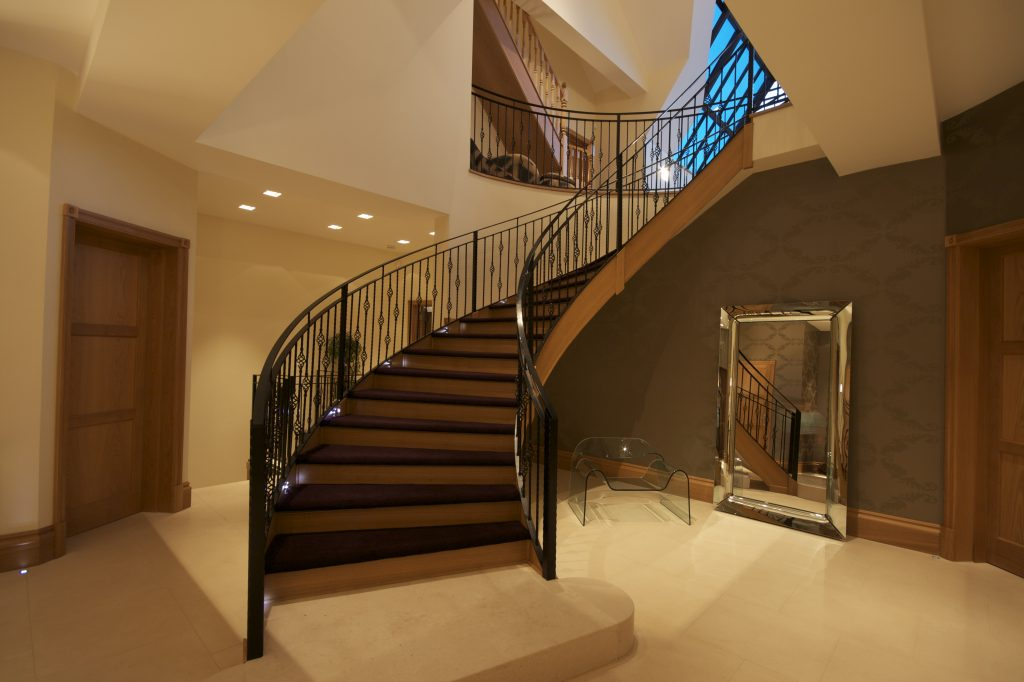 Staircase with smart home lighting