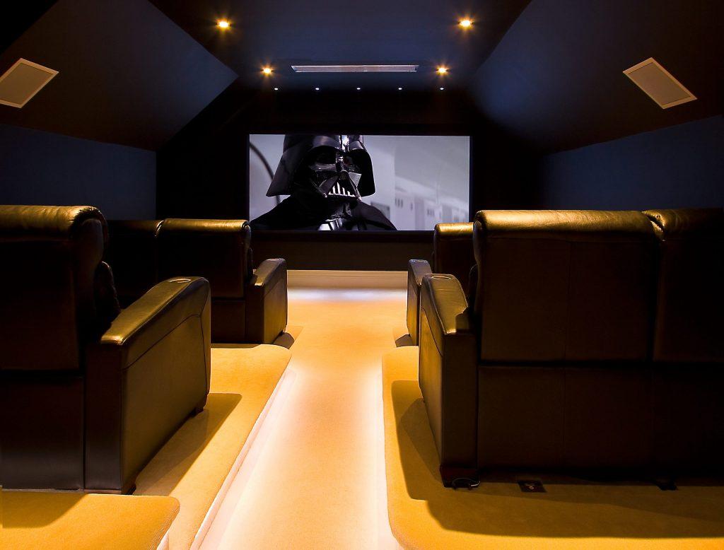 A home cinema for a star Wars fan.