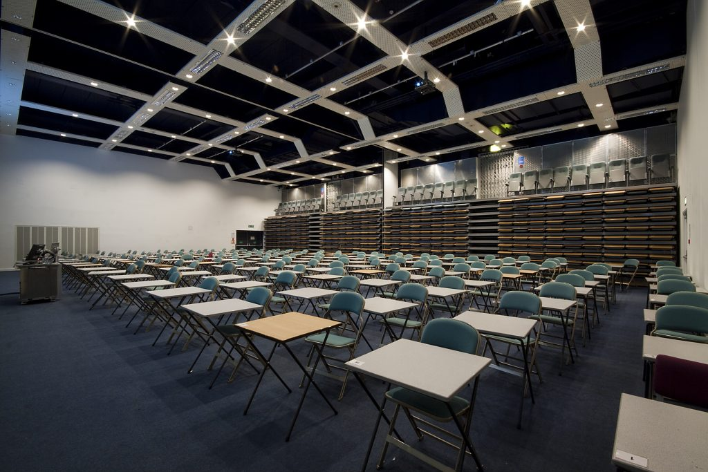 Energy efficient lighting in Austin Pearce lecture theatre