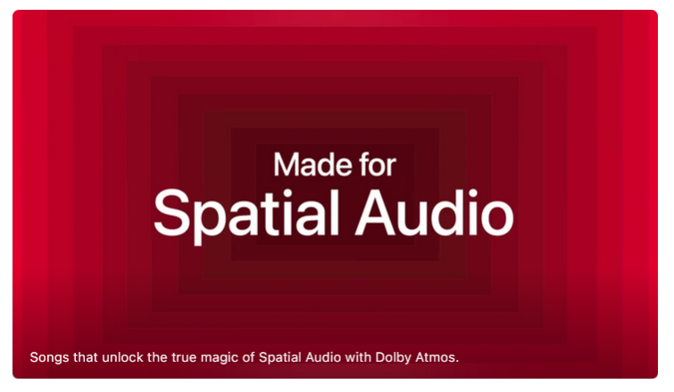 Spatial Audio with Dolby Atmos - immersive audio in the home